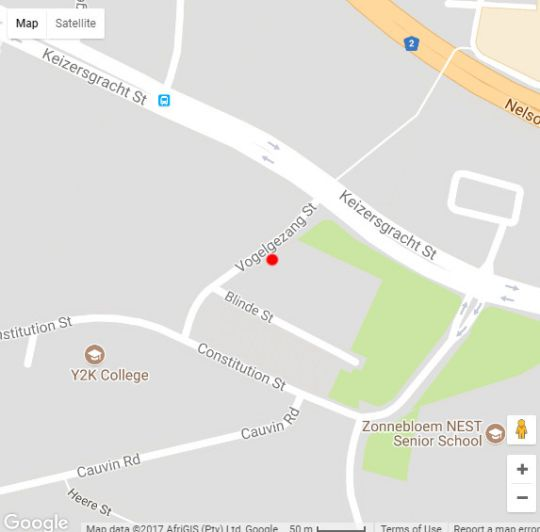 Map 3 Canterbury Square in Zonnebloem  City Bowl  Cape Town  Western Cape  South Africa