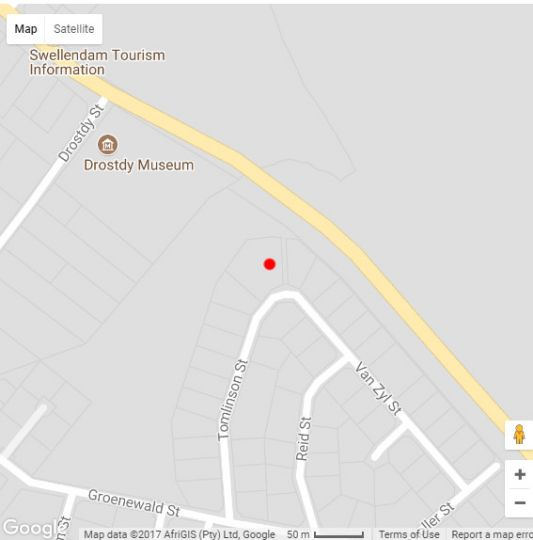 Map Gapa House in Swellendam  Overberg  Western Cape  South Africa