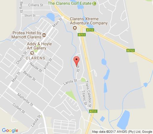 Map Hakuna Matata in Clarens  Thabo Mofutsanyana  Free State  South Africa