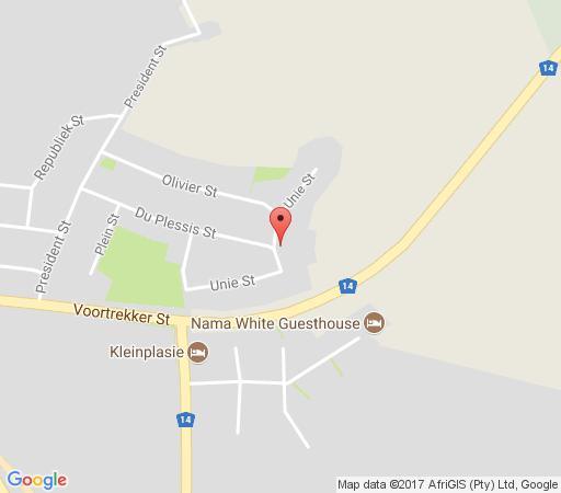 Map Blue Diamond Lodge in Springbok  Namakwaland  Northern Cape  South Africa