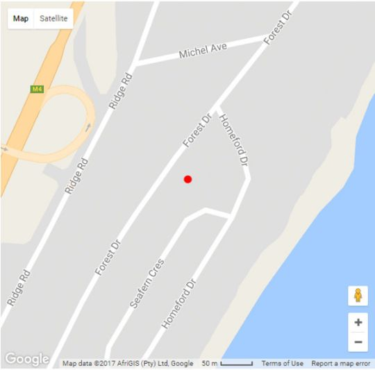 Map Maison - H Guest House in La Lucia  Northern Suburbs (DBN)  Durban and Surrounds  KwaZulu Natal  South Africa