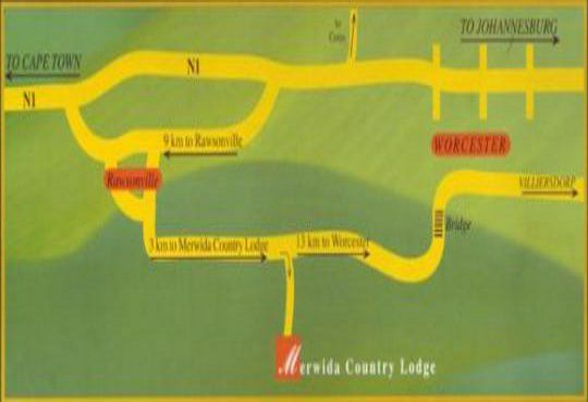 Map Merwida Country Lodge in Rawsonville  Breede River Valley  Western Cape  South Africa