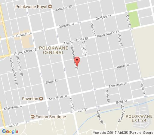 Map Polo Guest House in Polokwane  Capricorn  Limpopo  South Africa