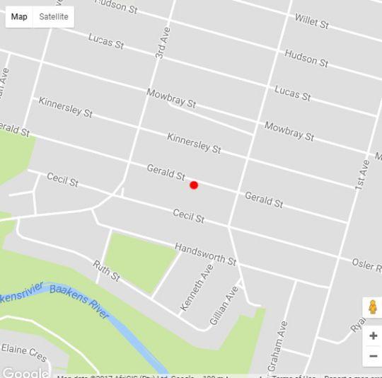 Map 30 Gerald Street Accomodation in Newton Park  Port Elizabeth  Cacadu (Sarah Baartman)  Eastern Cape  South Africa