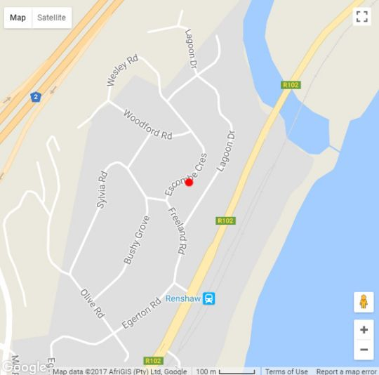 Map Serenity Too in Scottburgh  South Coast (KZN)  KwaZulu Natal  South Africa