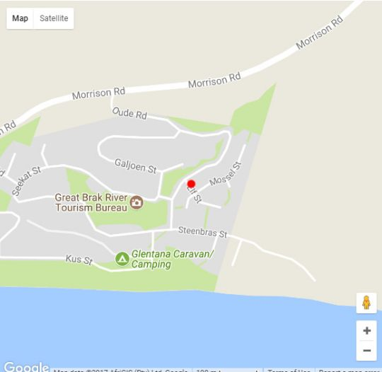 Map 10 Elf Beach House in Glentana  Garden Route  Western Cape  South Africa