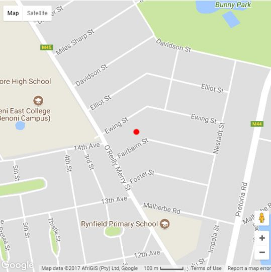 Map Safari Manor in Benoni  Ekurhuleni (East Rand)  Gauteng  South Africa