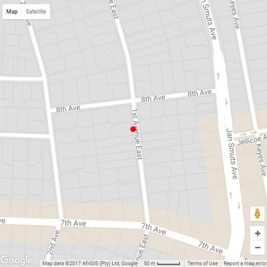 Map Q on First Guesthouse in Rosebank (JHB)  Northcliff/Rosebank  Johannesburg  Gauteng  South Africa