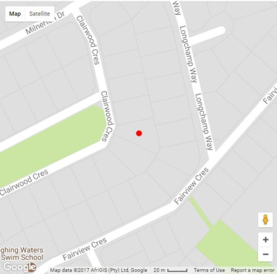 Map Clairwood Villa in Bloubergstrand  Blaauwberg  Cape Town  Western Cape  South Africa