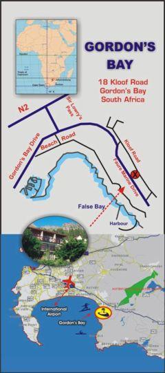 Map 18 on Kloof B&B in Gordon's Bay  Helderberg  Western Cape  South Africa