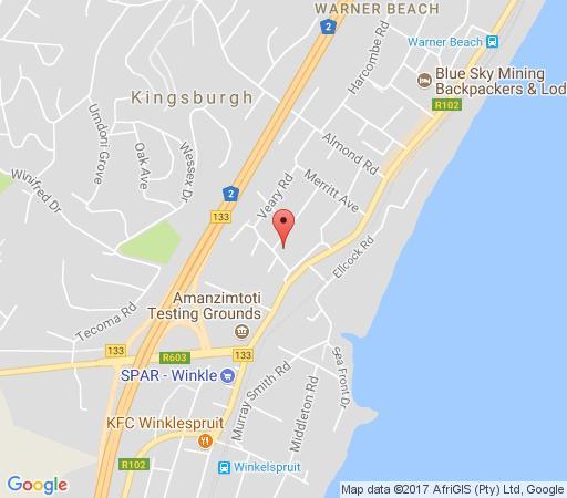 Map  Aloes No.21 in Warner Beach  South Coast (KZN)  KwaZulu Natal  South Africa