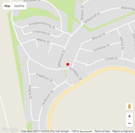 Map  Tina\'s Place in Sabie  The Panorama  Mpumalanga  South Africa