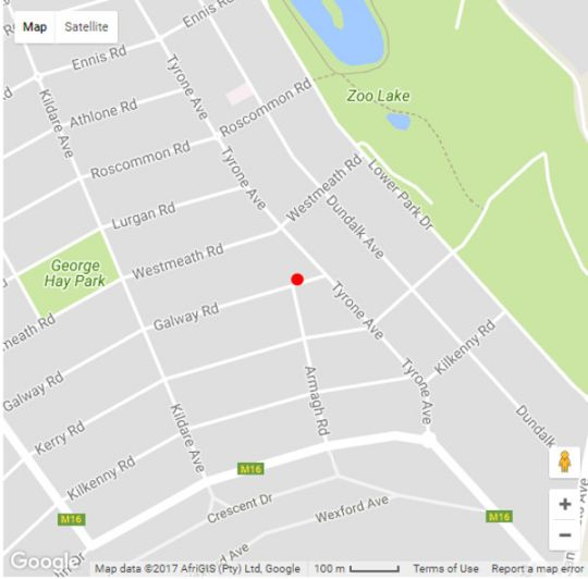 Map Maison Jacaranda in Parkview  Northcliff/Rosebank  Johannesburg  Gauteng  South Africa