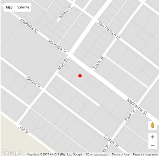 Map CasaBianca in Clarens  Thabo Mofutsanyana  Free State  South Africa