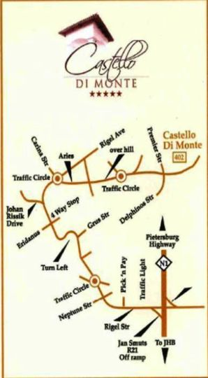 Map Castello Di Monte in Waterkloof Ridge  Pretoria East  Pretoria / Tshwane  Gauteng  South Africa