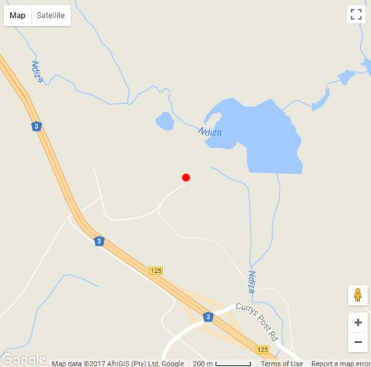 Map Bosch Hoek Lodge in Balgowan  Midlands  KwaZulu Natal  South Africa