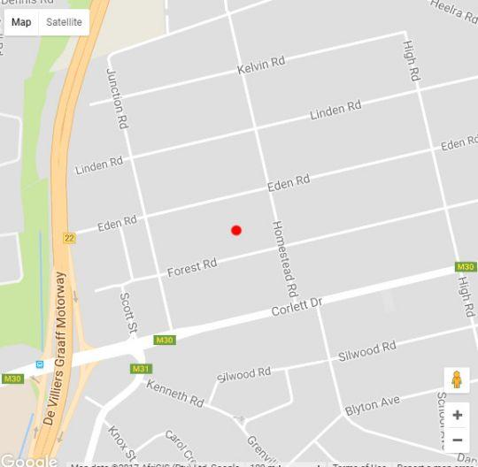 Map Fogap Guesthouse in Bramley  Sandton  Johannesburg  Gauteng  South Africa