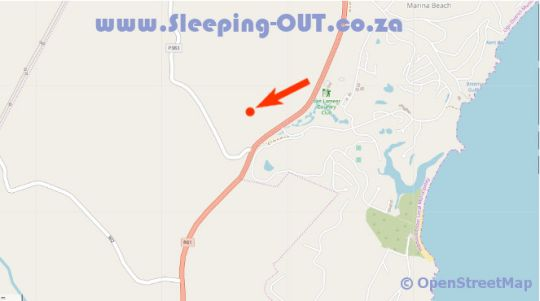 Map Villa 10426 in San Lameer  South Coast (KZN)  KwaZulu Natal  South Africa