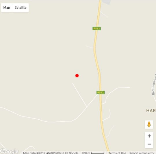 Map Sparrow Hawk Lodge in Hartbeespoort  Bojanala  North West  South Africa