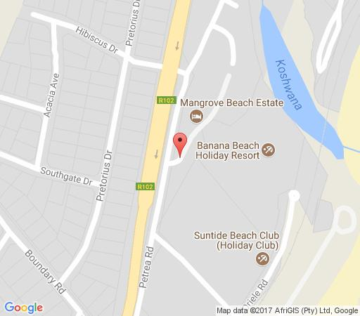 Map At 4 Umzumbe, Mangrove Beach Estate in Port Shepstone  South Coast (KZN)  KwaZulu Natal  South Africa