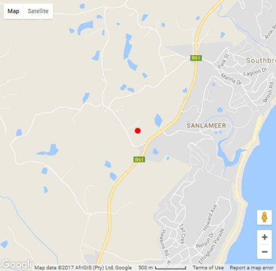 Map Villa 2842 in San Lameer  South Coast (KZN)  KwaZulu Natal  South Africa