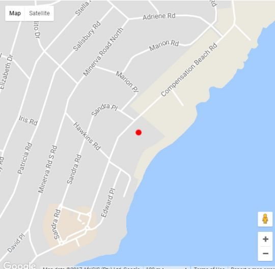 Map Bikini 7 in Ballito  North Coast (KZN)  KwaZulu Natal  South Africa