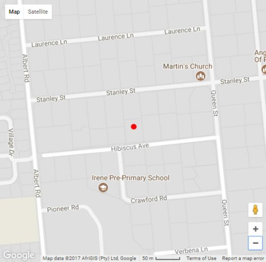 Map Hibiscus Lane in Irene  Centurion  Pretoria / Tshwane  Gauteng  South Africa