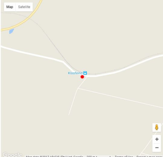 Map Kloofeind Guest Lodge in Bloemfontein  Mangaung  Free State  South Africa