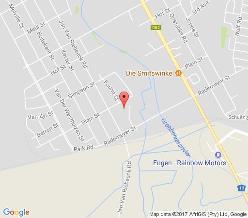 Map  Bethelholidayhomes Oudtshoorn in Oudtshoorn  Klein Karoo  Western Cape  South Africa