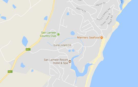 Map Villa 3009 in San Lameer  South Coast (KZN)  KwaZulu Natal  South Africa