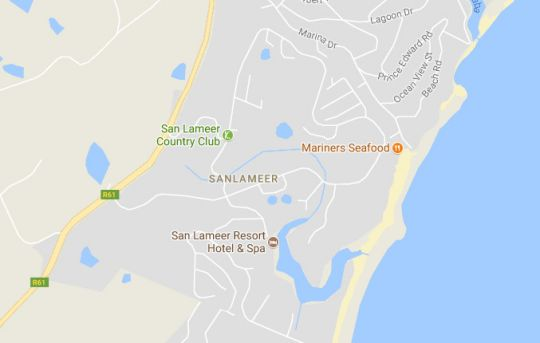 Map Villa 3107 in San Lameer  South Coast (KZN)  KwaZulu Natal  South Africa