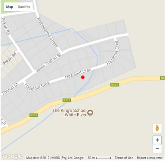 Map Topaz Overnight in White River  The Panorama  Mpumalanga  South Africa