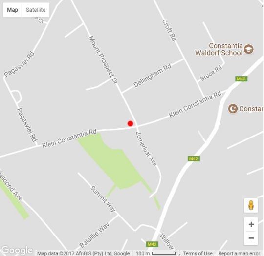 Map 14 on Klein Constantia in Constantia (CPT)  Southern Suburbs (CPT)  Cape Town  Western Cape  South Africa