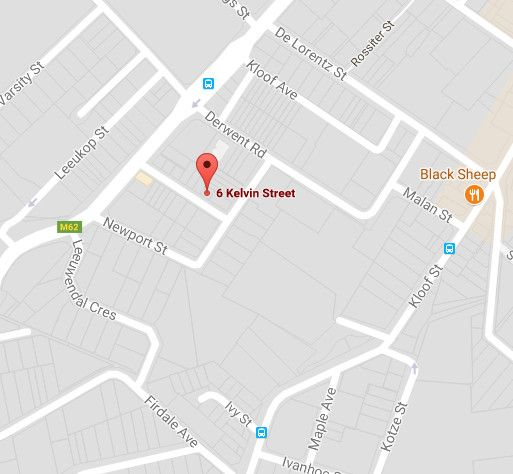 Map Kelvin Cottage in Gardens  City Bowl  Cape Town  Western Cape  South Africa