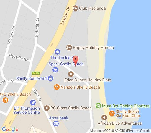 Map Summer Place 15 in Shelly Beach  South Coast (KZN)  KwaZulu Natal  South Africa