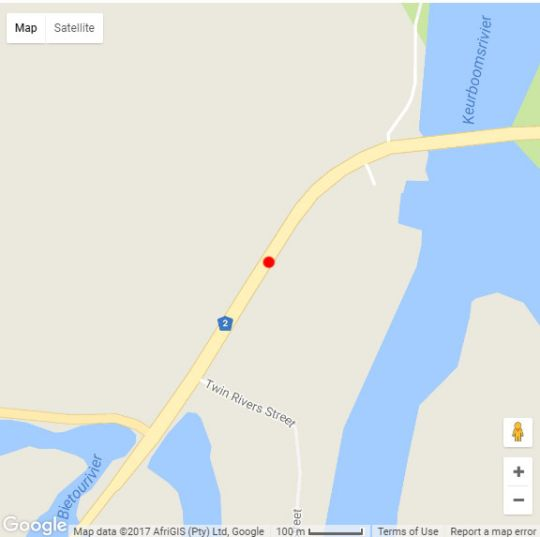 Map Green Hills Forest Lodge in The Crags  Garden Route  Western Cape  South Africa