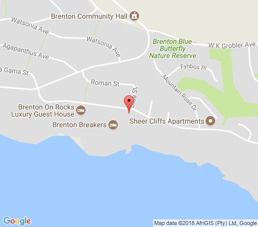Map Brenton Bushbuck Lodge in Brenton on Sea  Garden Route  Western Cape  South Africa
