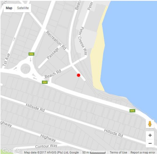 Map On the Beach Apartment in Fish Hoek  False Bay  Cape Town  Western Cape  South Africa