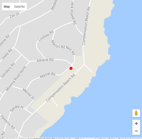 Map 26 Marion Road House in Ballito  North Coast (KZN)  KwaZulu Natal  South Africa
