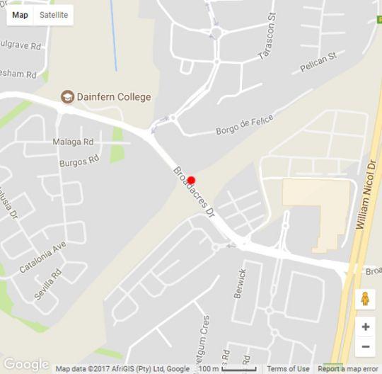 Map Cycad House in Dainfern  Randburg  Johannesburg  Gauteng  South Africa