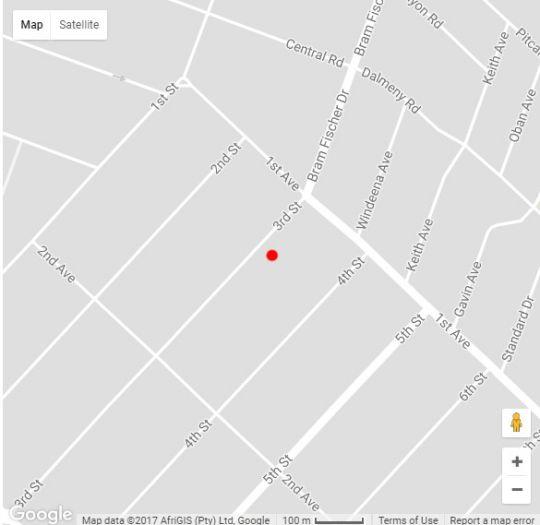 Map  Eaglesnest on 110 3rd Street in Linden  Northcliff/Rosebank  Johannesburg  Gauteng  South Africa