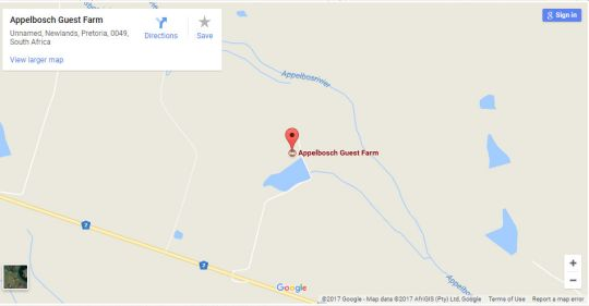 Map Appelsbosch Farm Cottage in Swellendam  Overberg  Western Cape  South Africa