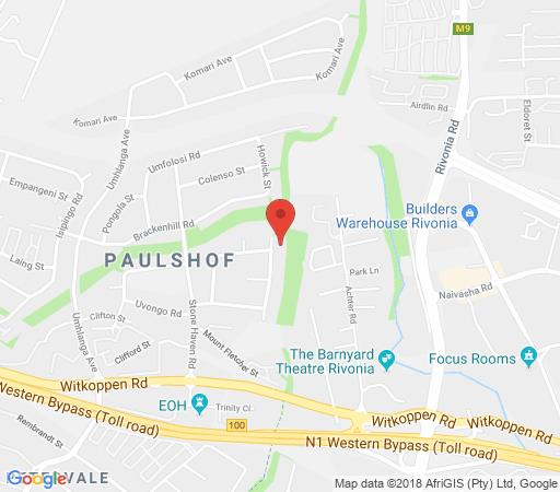 Map Vair\'s Place in Paulshof  Sandton  Johannesburg  Gauteng  South Africa