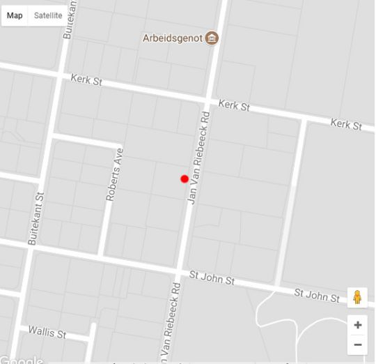 Map Le Roux\'s Guest House in Oudtshoorn  Klein Karoo  Western Cape  South Africa
