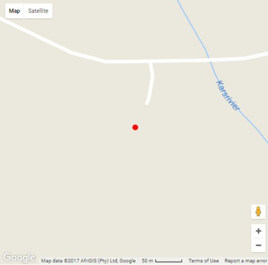 Map Jacks Place in Bredasdorp  Overberg  Western Cape  South Africa