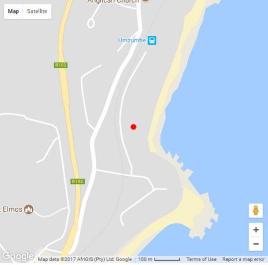 Map Ocean View in Umzumbe  South Coast (KZN)  KwaZulu Natal  South Africa