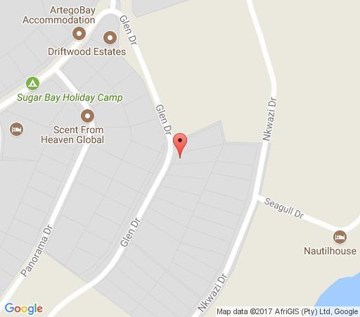 Map 6 Glen Drive in Zinkwazi Beach  North Coast (KZN)  KwaZulu Natal  South Africa