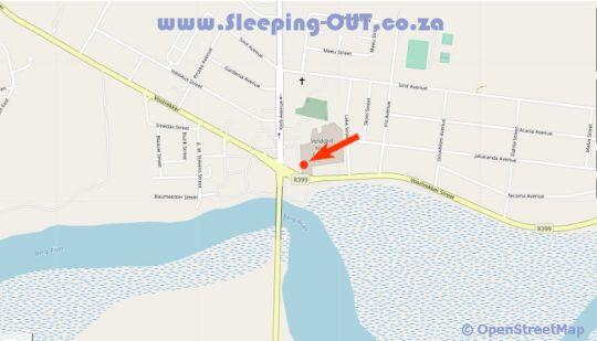 Map Riviera Hotel & Chalets in Velddrif  West Coast (WC)  Western Cape  South Africa