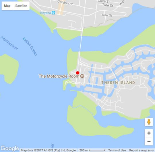 Map Thesen Islands Holiday Living in Thesen Island  Garden Route  Western Cape  South Africa