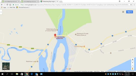 Map Fish Eagle Bay A5 in Plettenberg Bay  Garden Route  Western Cape  South Africa